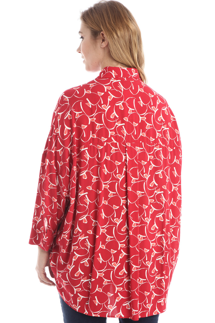 Loose fit viscose shirt Intrend