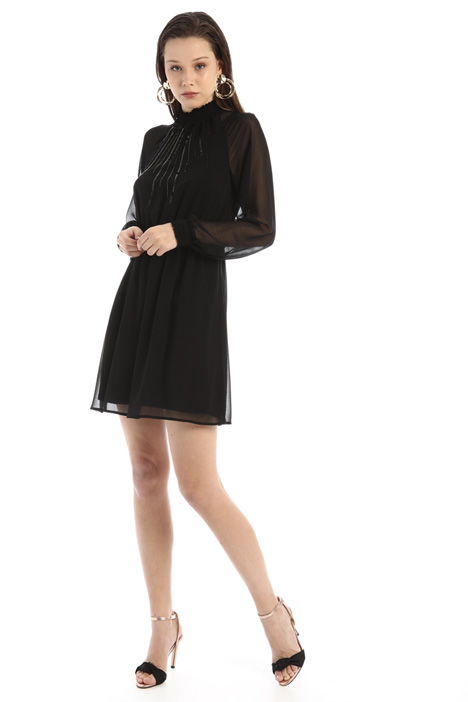 Gathered georgette dress Intrend