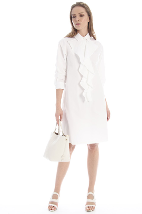 Flounced poplin dress Intrend