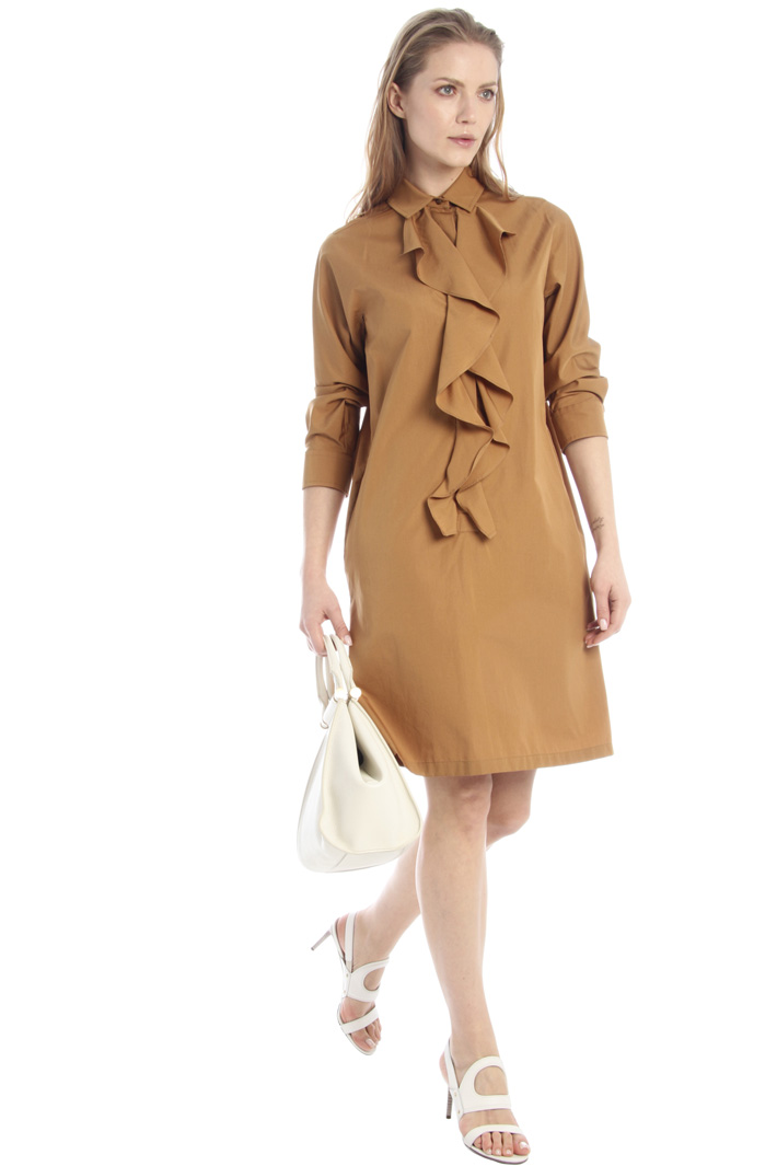 Flounced poplin dress Intrend