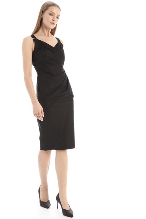 Cotton poplin sheath dress Intrend