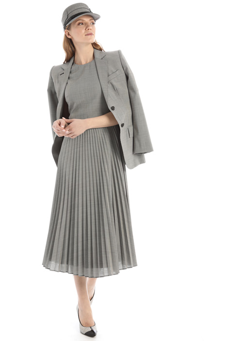 Pleated wool dress Intrend