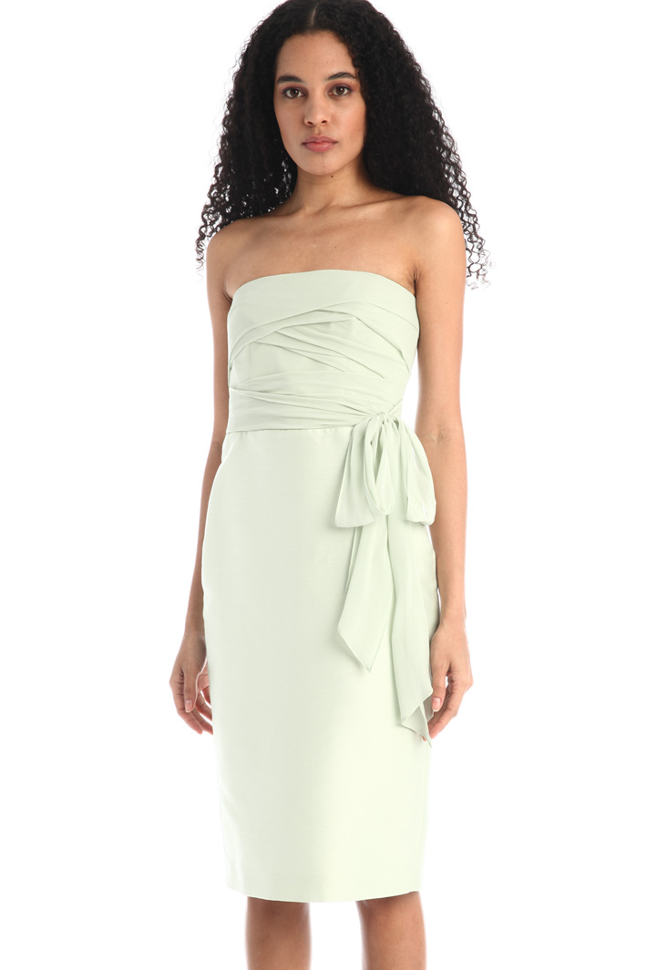 Draped silk georgette dress Intrend
