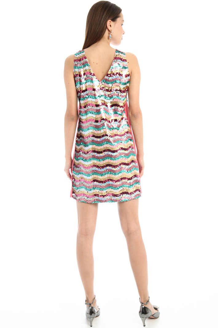 Short sequinned dress Intrend