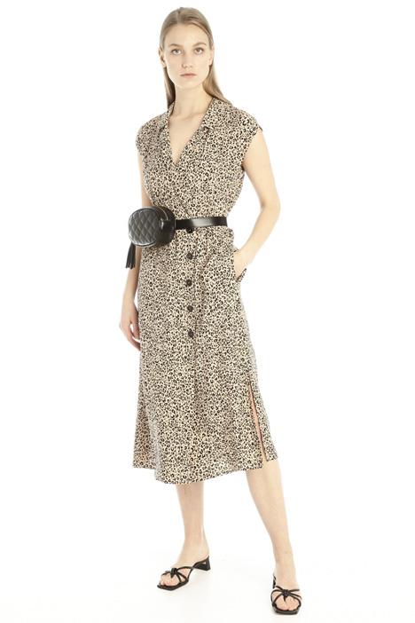 Wrap-up sablé dress Intrend