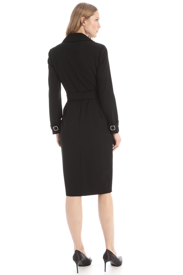 Wrap-up wool dress Intrend