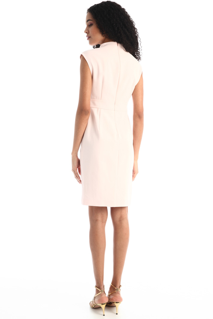 Tube dress in crepe fabric Intrend