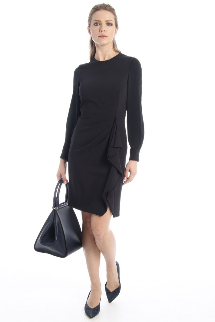 Wool and silk crepe dress Intrend