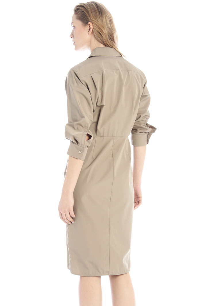 Wrap-up poplin dress Intrend