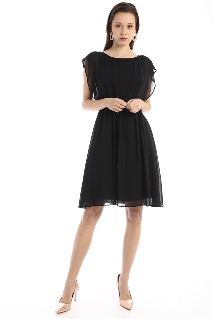 Shiny georgette dress Intrend