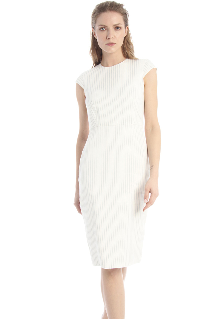 Pinstriped silk blend dress Intrend