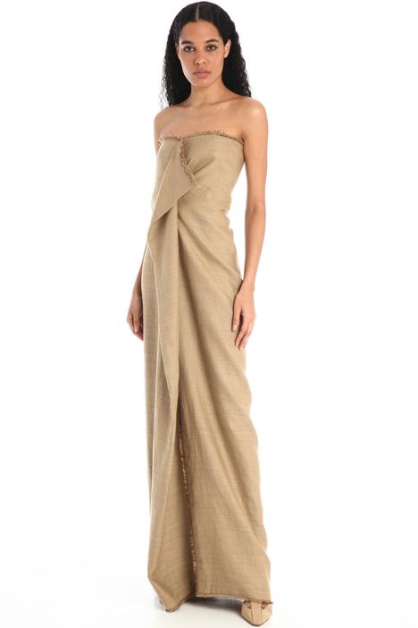 Linen and silk bustier dress Intrend
