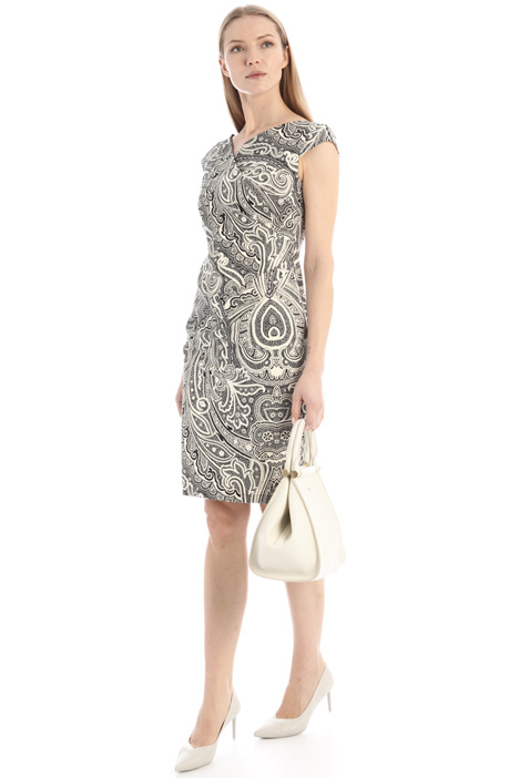 Printed poplin sheath dress Intrend