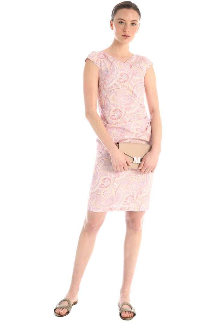 Printed poplin sheath dress Intrend