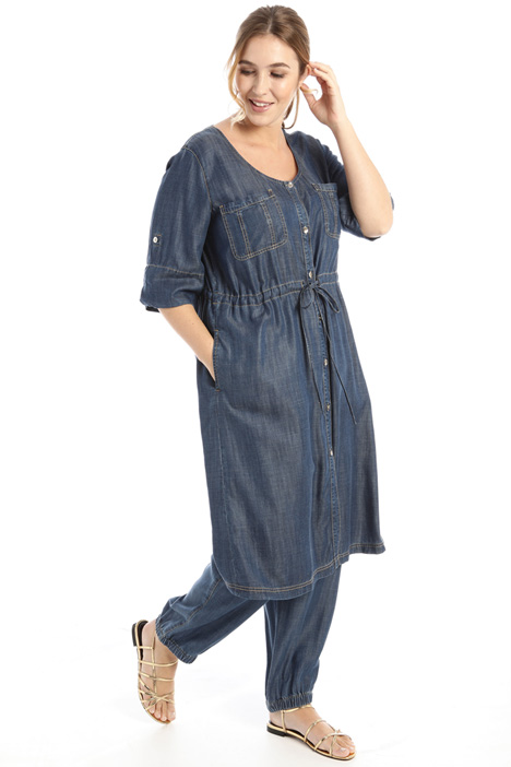Denim-effect dress Intrend