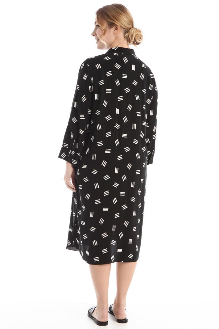 Printed chemisier dress Intrend