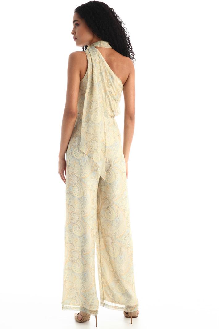 One-shoulder silk jumpsuit Intrend