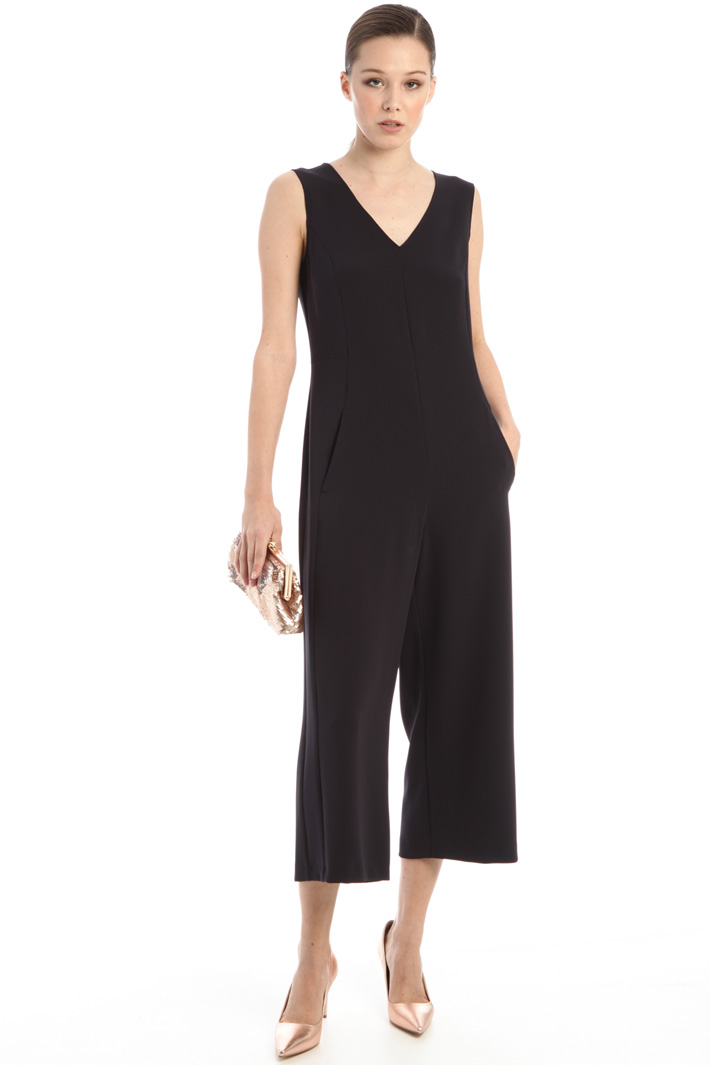 Cropped cady jumpsuit Intrend