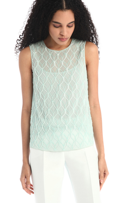 Embroidered georgette top Intrend
