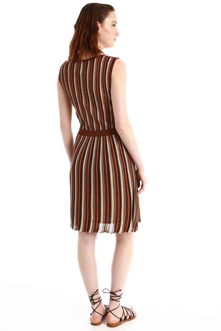 Ribbed lurex dress Intrend