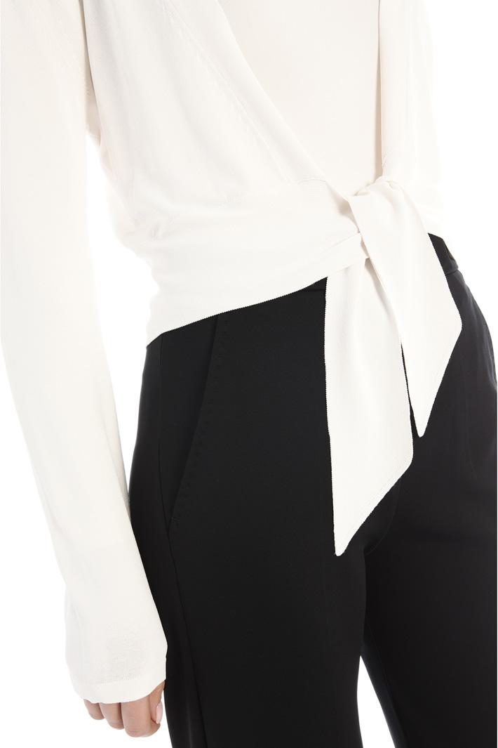 Tie-fastening cardigan Intrend