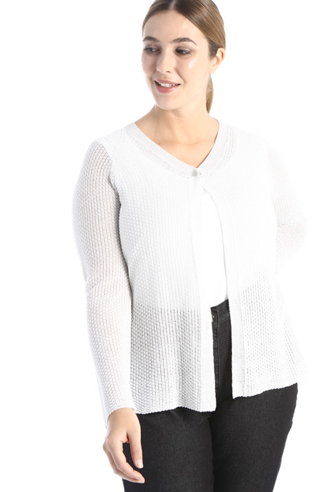 Cardigan in cotone lamé Intrend