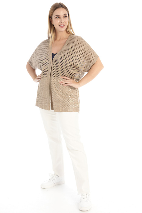 Laminated cordonnet cardigan Intrend