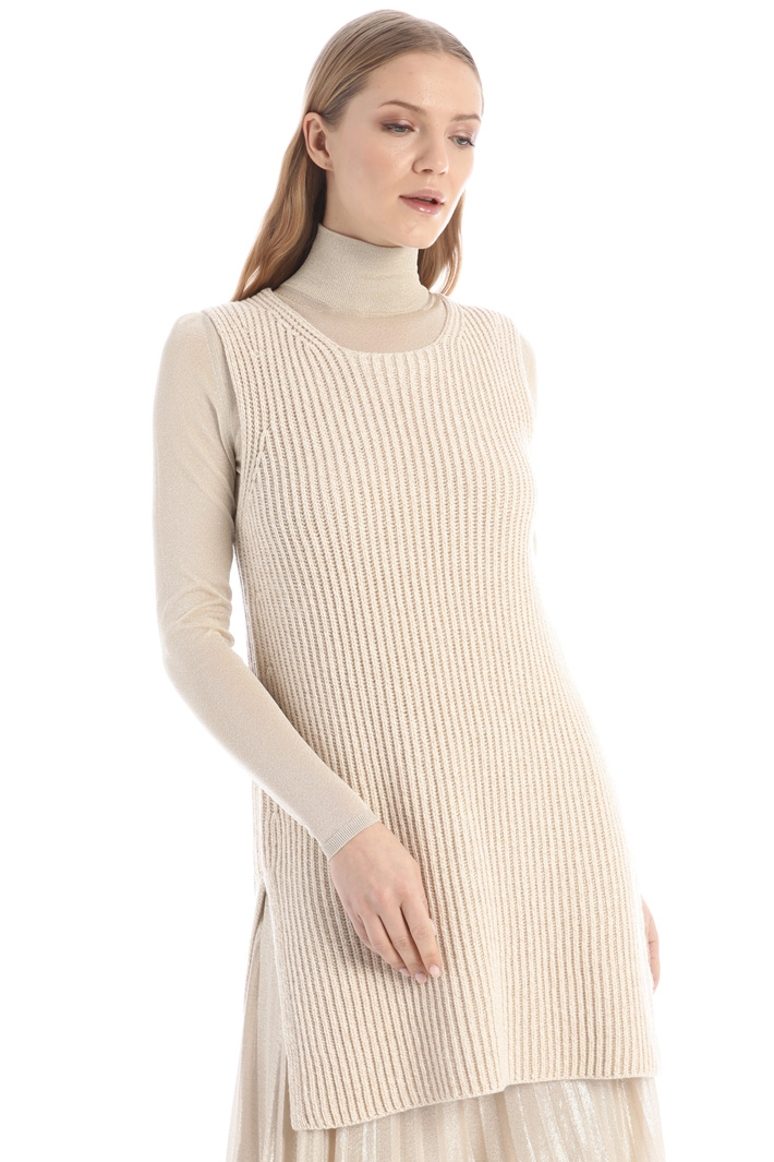 Wool and cashmere yarn top Intrend