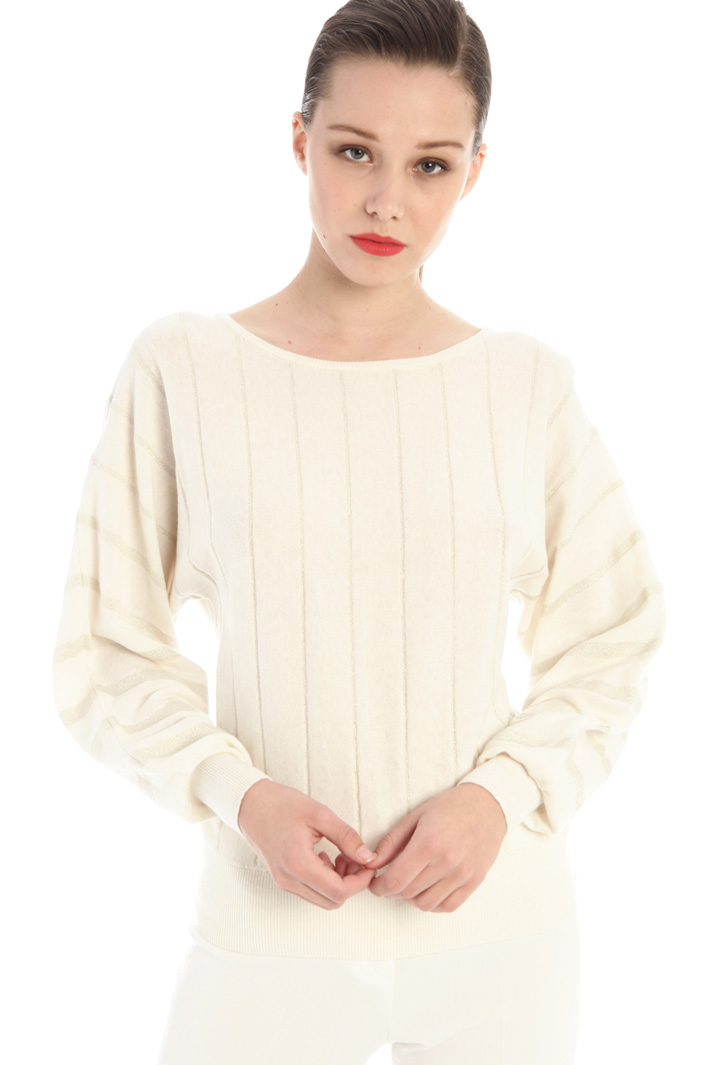 Lurex embroidered sweater Intrend