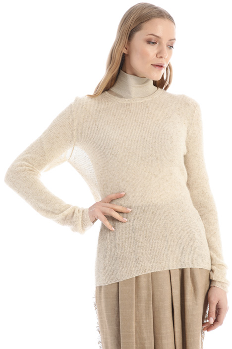 Lurex mohair and wool sweater Intrend