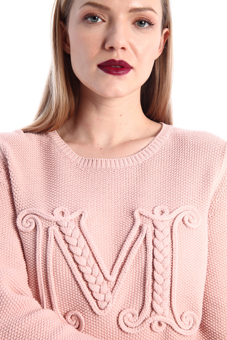 Embroidered cotton sweater Intrend