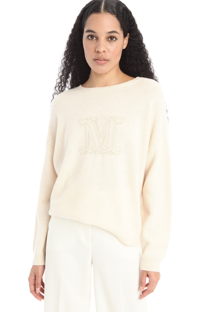 Inlayed cashmere sweater Intrend