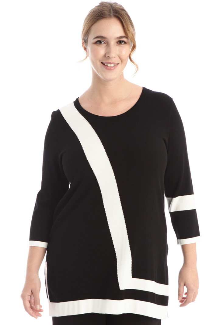 Two-tone sweater in viscose Intrend