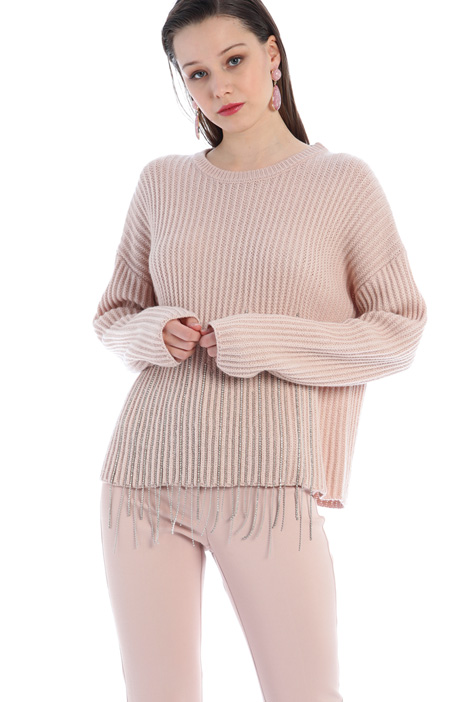 Ribbed rhinestone sweater Intrend