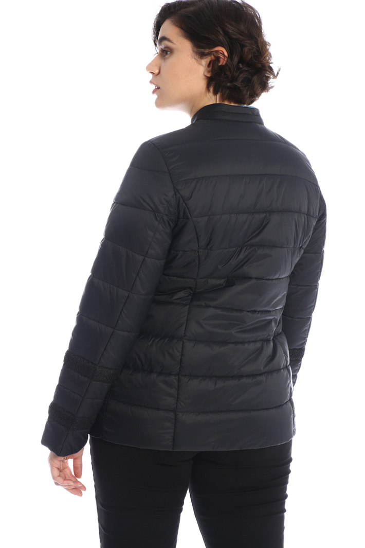 Embroidered puffer jacket Intrend