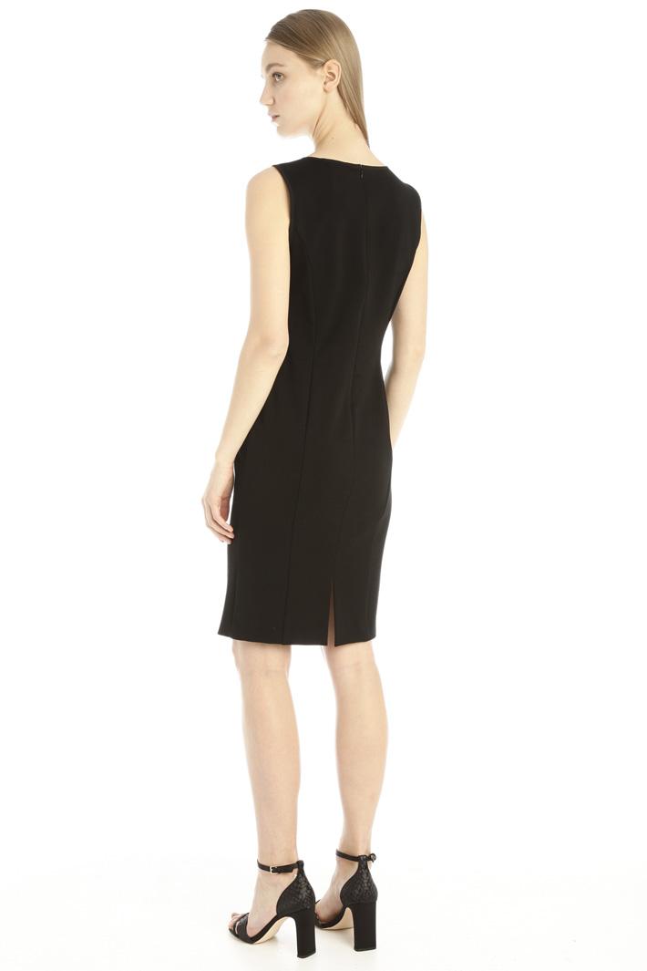 Jacquard sleeveless dress Intrend
