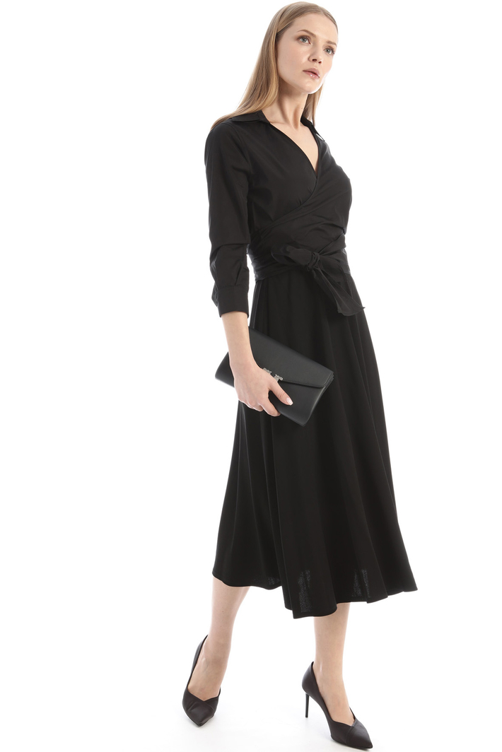 Poplin and jersey dress Intrend