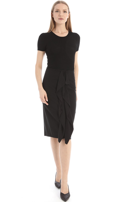 Jersey and silk dress Intrend
