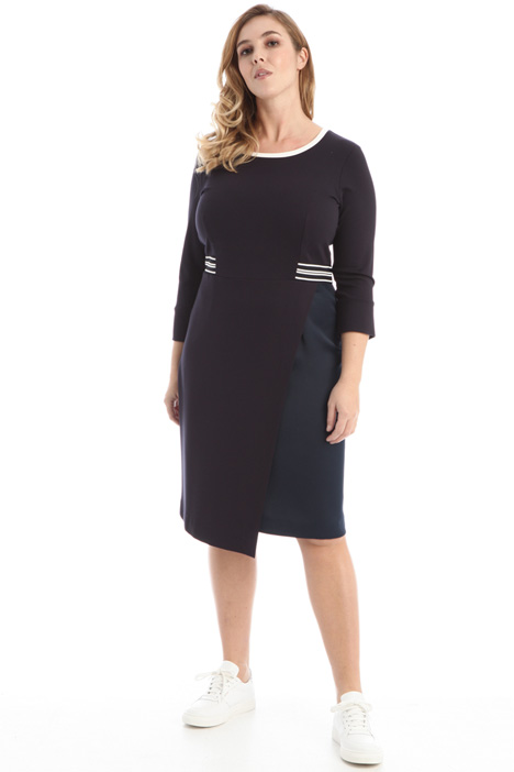 Crepe and jersey dress Intrend