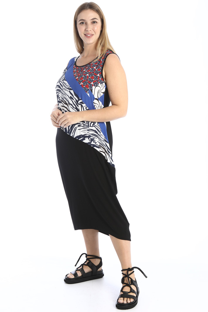 Dress in double fabric Intrend