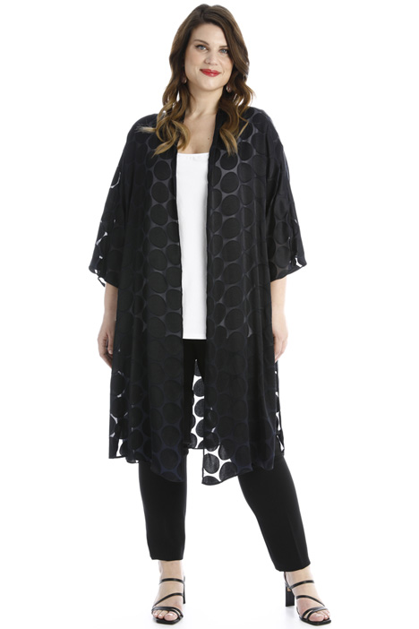 Dévoré satin duster coat Intrend