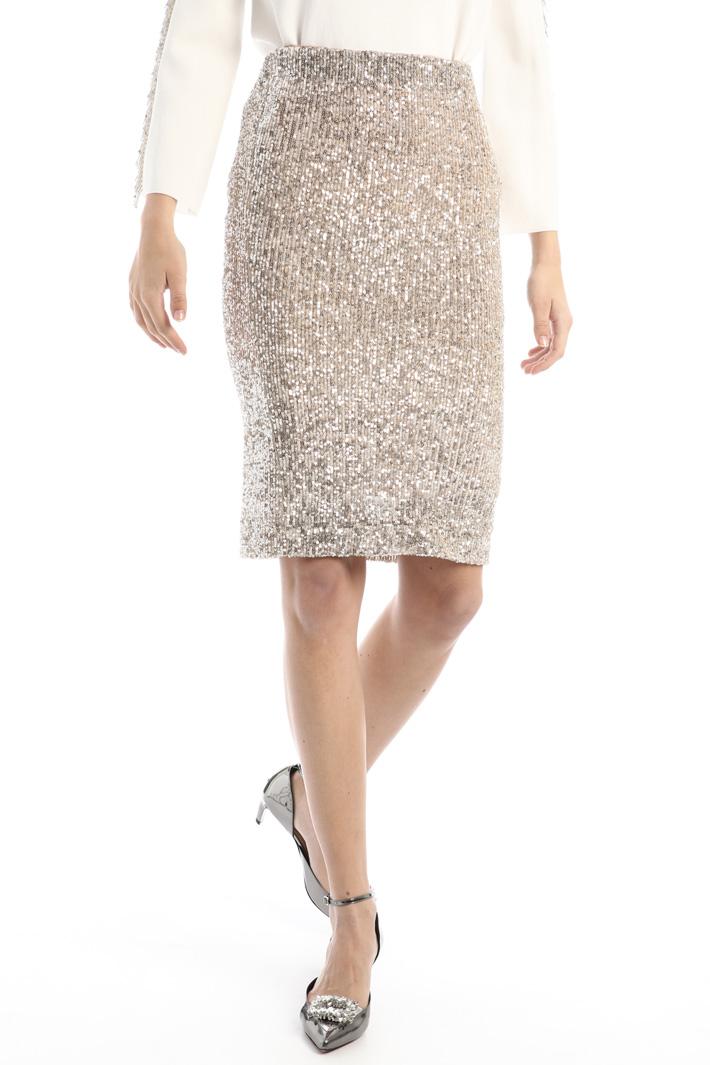 Sequinned sheath skirt Intrend