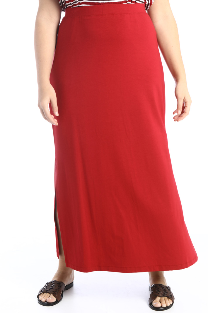 Jersey skirt with side slits Intrend