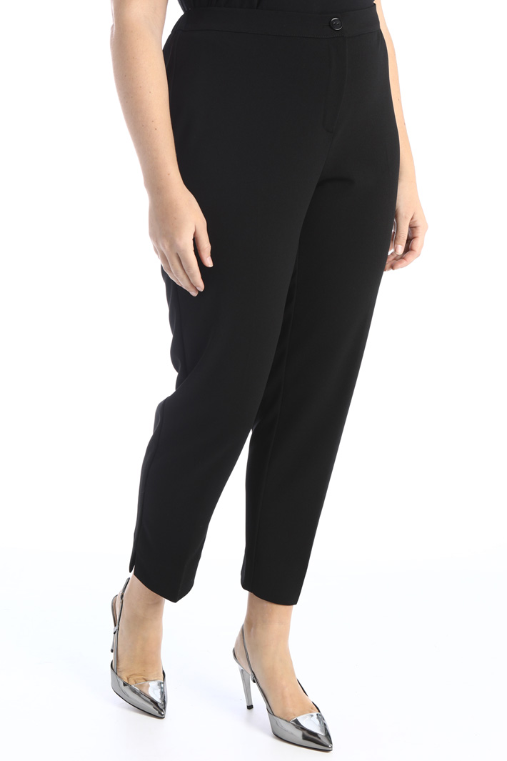 Trousers in crepe jersey Intrend