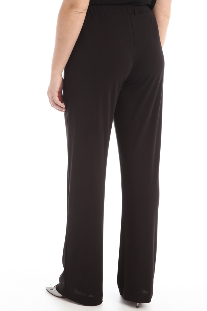 Crepe jersey trousers Intrend