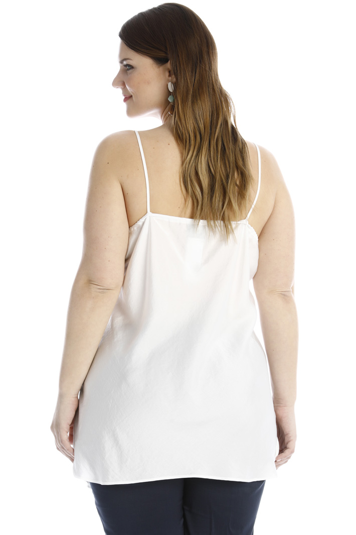 Satin top with slits Intrend