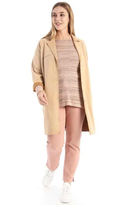 Suede-effect duster coat Intrend