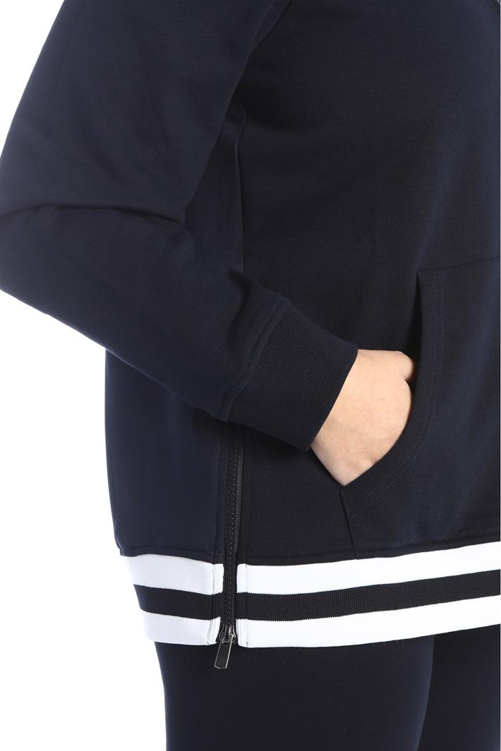 Cotton zip sweatshirt Intrend