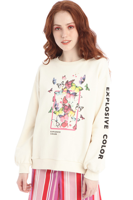 Printed oversized sweatshirt Intrend