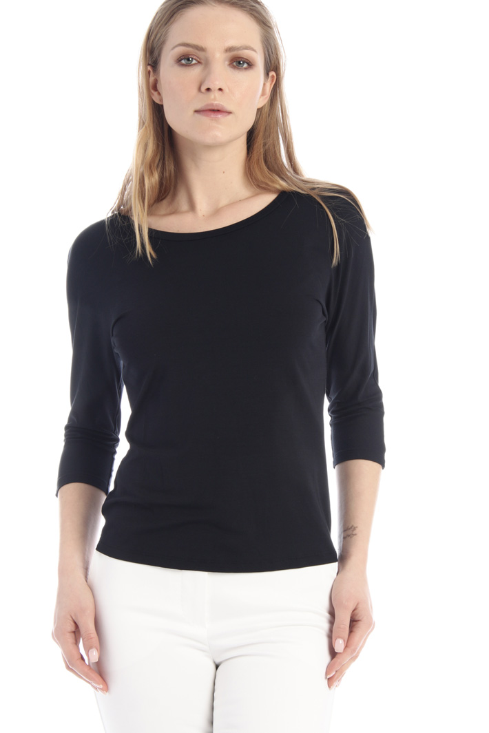 Stretch viscose jersey T-shirt Intrend